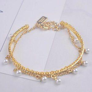 Kate Spade Pearl Embellished Gold Bracelet